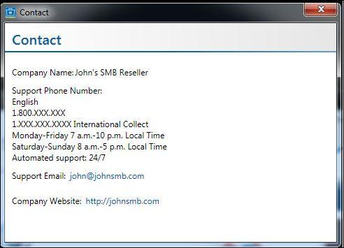 Intel SBA fiche contact