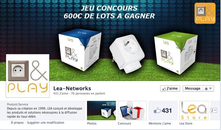Concours Facebook LEA