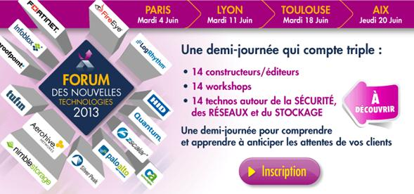 Forums des nouvelles technologies 2013  d'Exclusive Networks