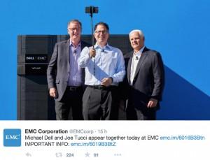 Selfie entre Dell et EMC