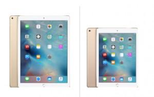"""La tablette iPad Pro (12,9"""") est plus grande que la tablette iPad Air (9,7"""")"""