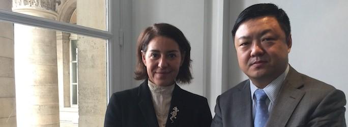 Robert Yang, vice-président enterprise business de Huawei pour l'Europe de l'Ouest et Sophie Daval, directeur cloud services et marketing Arrow ECS France
